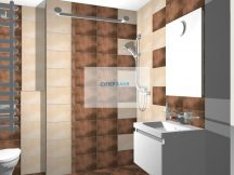 Плочки за баня   OMEGA MARRON - KEROS