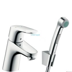 Смесител за  умивалник и биде HANSGROHE с един лост 70 с ръчен душ и маркуч за душ 160 cm