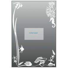 Огледало за баня с декорации
