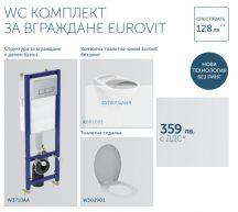 IDEAL_Standart_EUROVIT WC Комплект за вграждане